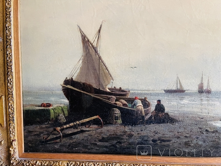 Рыбаки с уловом 19 век, фото №4