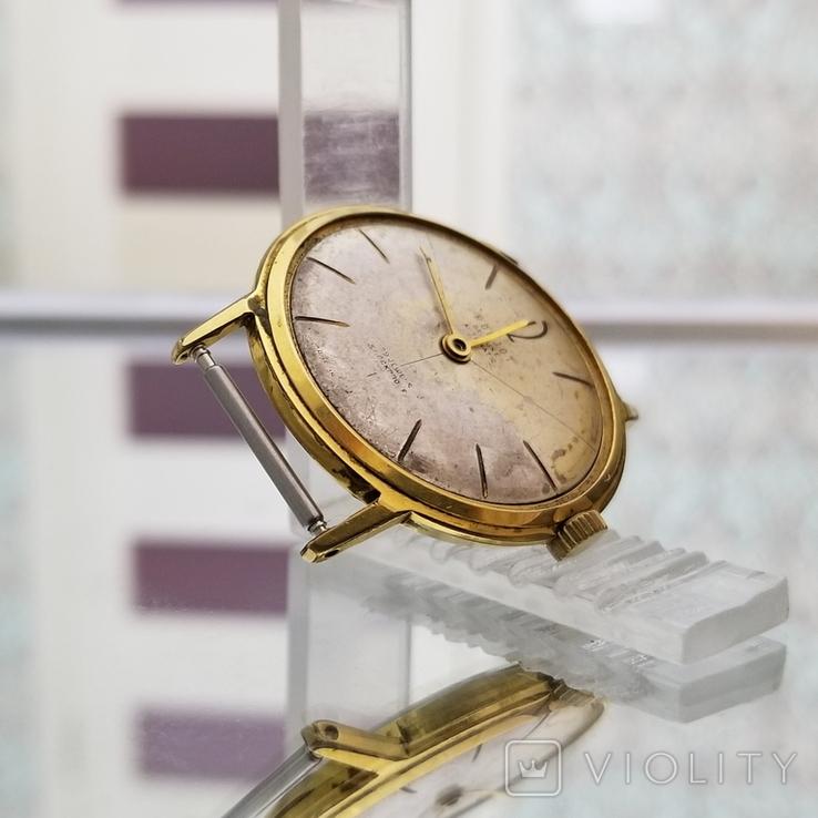 Позолоченные часы Полет де Люкс 29 камней Автоподзавод ау20 СССР, фото №6