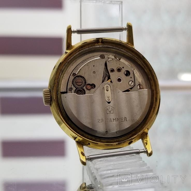 Позолоченные часы Полет де Люкс 29 камней Автоподзавод ау20 СССР, фото №10