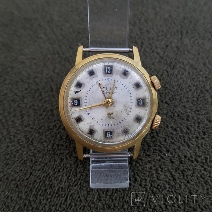 Позолоченные часы Полет Будильник ау20 СССР, фото №2