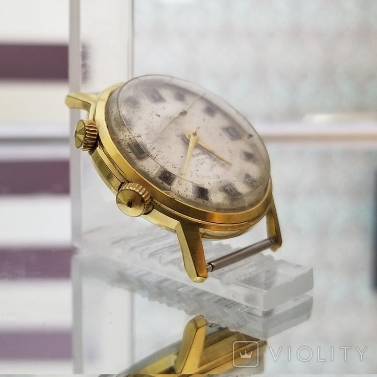 Позолоченные часы Полет Будильник ау20 СССР, фото №5