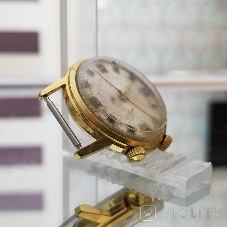 Позолоченные часы Полет Будильник ау20 СССР, фото №6