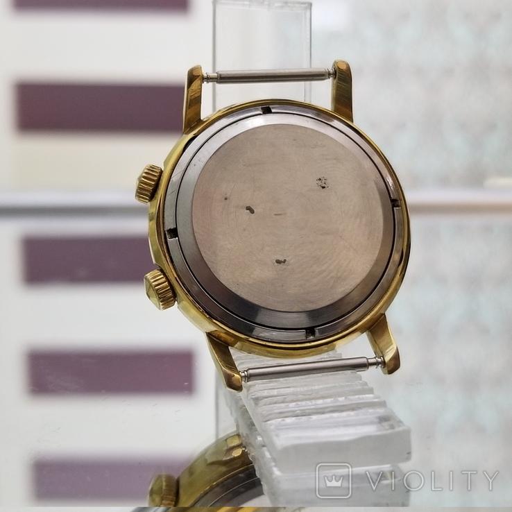 Позолоченные часы Полет Будильник ау20 СССР, фото №7