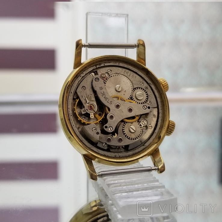 Позолоченные часы Полет Будильник ау20 СССР, фото №9