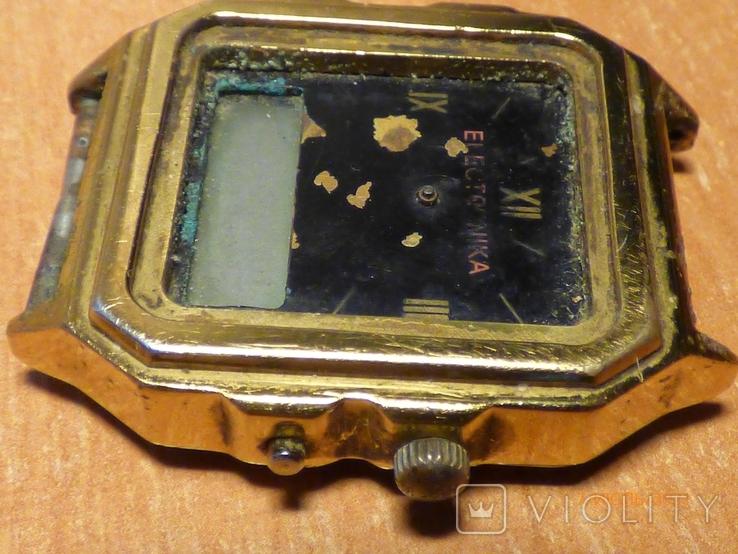 Редкие часы электроника 59 на запчасти или под восстановление, фото №6