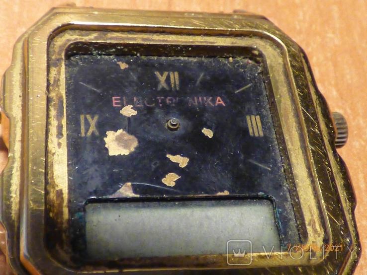 Редкие часы электроника 59 на запчасти или под восстановление, фото №8