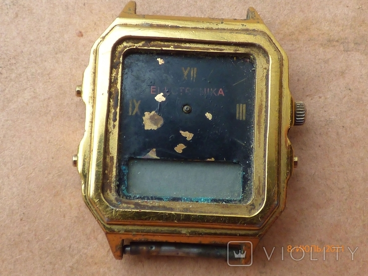 Редкие часы электроника 59 на запчасти или под восстановление, фото №2