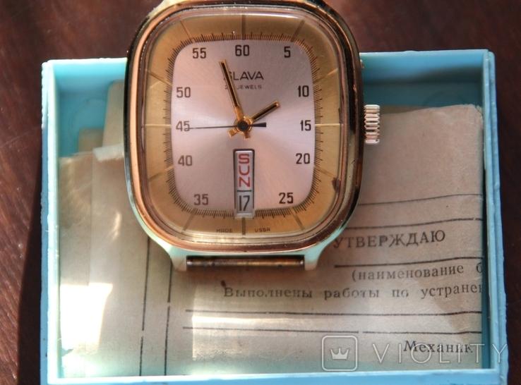 Позолоченные часы SLAVA made USSR на ходу, фото №2