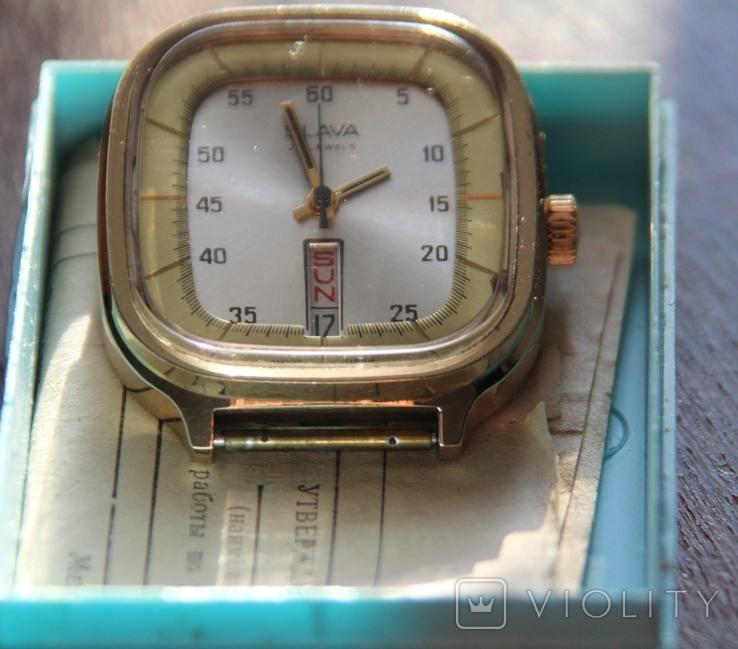 Позолоченные часы SLAVA made USSR на ходу, фото №3