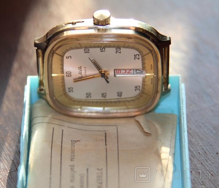 Позолоченные часы SLAVA made USSR на ходу, фото №4