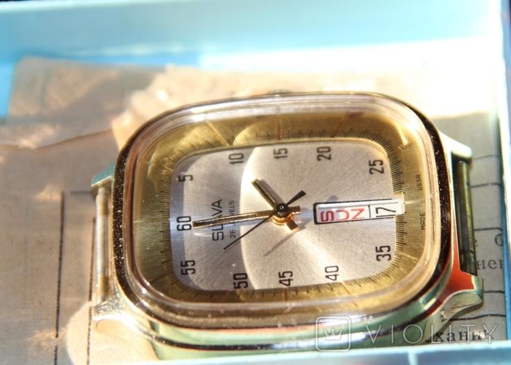Позолоченные часы SLAVA made USSR на ходу, фото №6