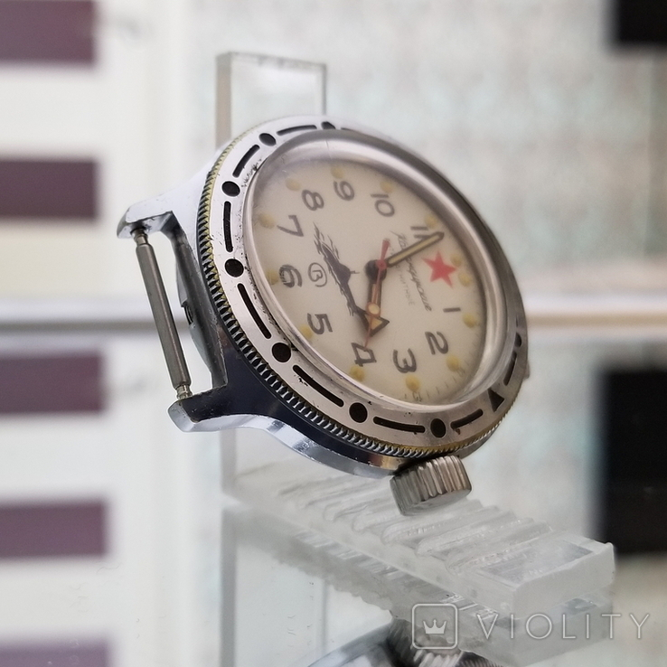 Часы Восток Амфибия Подводная Лодка Антимагнитные СССР (на ходу), фото №6