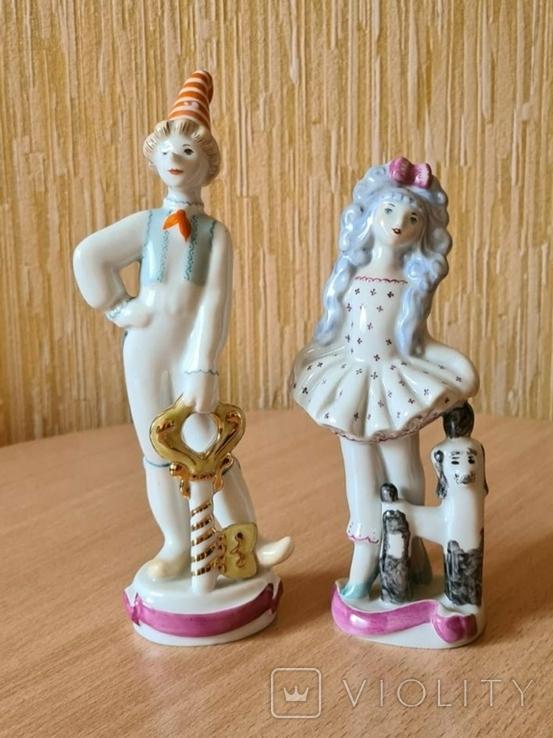 Буратино и Мальвина. Фигурки СССР., фото №2
