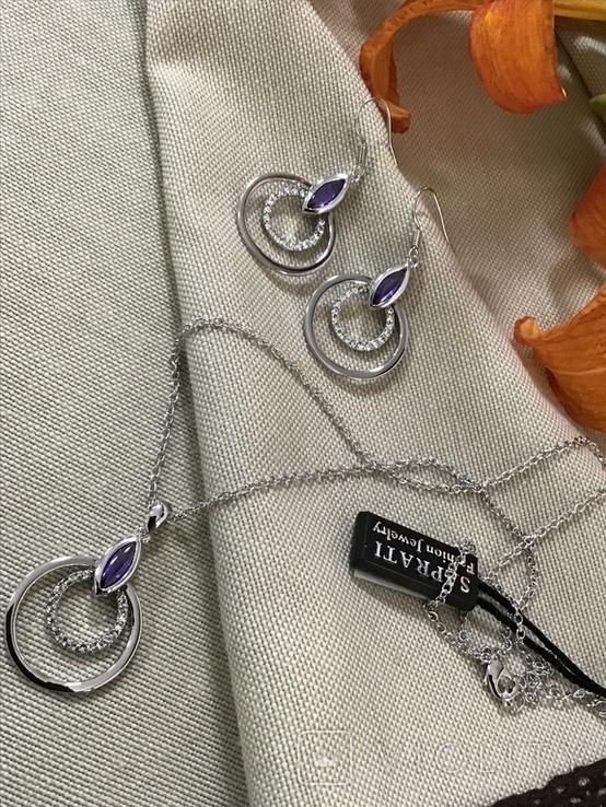 Сережки та кулон на ланцюжку, фото №3