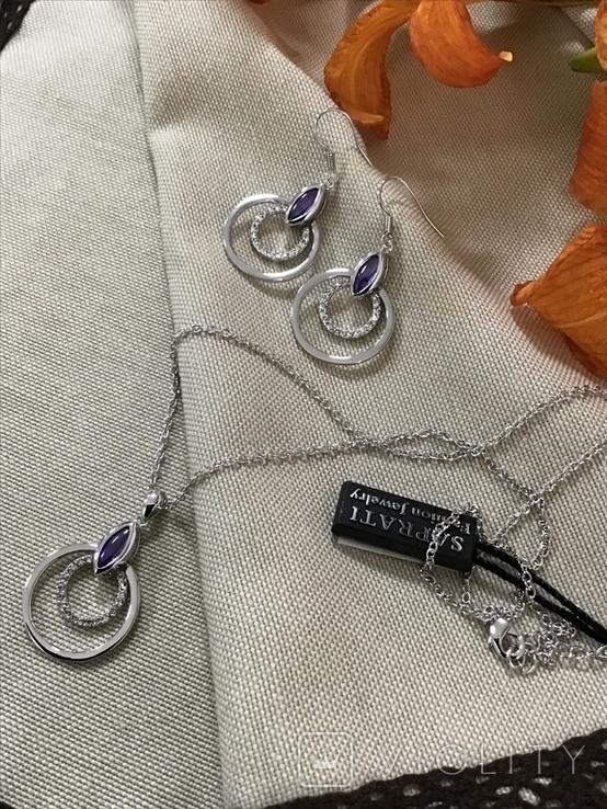 Сережки та кулон на ланцюжку, фото №5