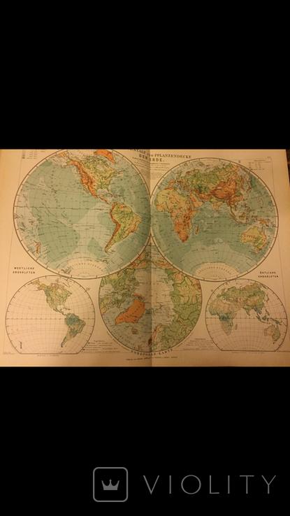 Большой географический атлас E.Debes` Neuer HANDATLAS, фото №5