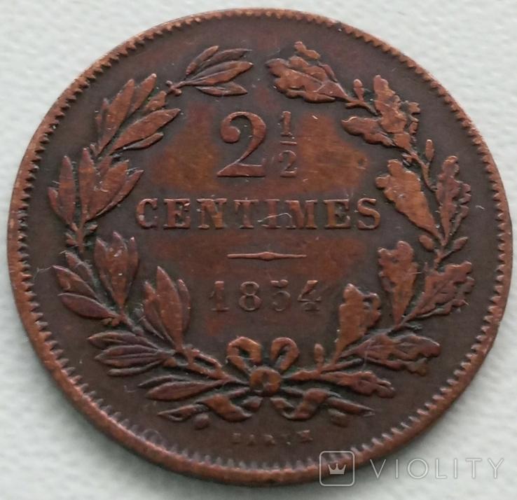 Люксембург 2,5 сантима 1854 года, фото №2