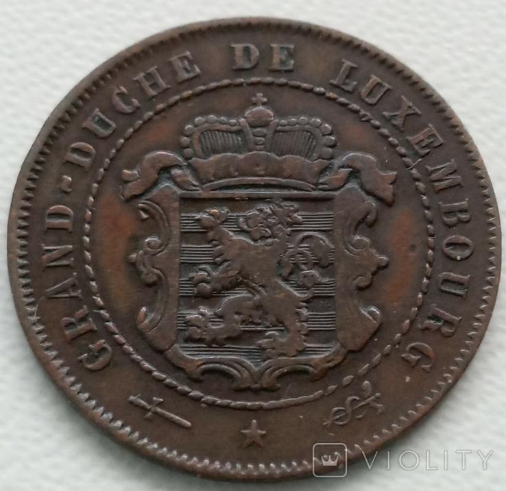 Люксембург 2,5 сантима 1854 года, фото №3