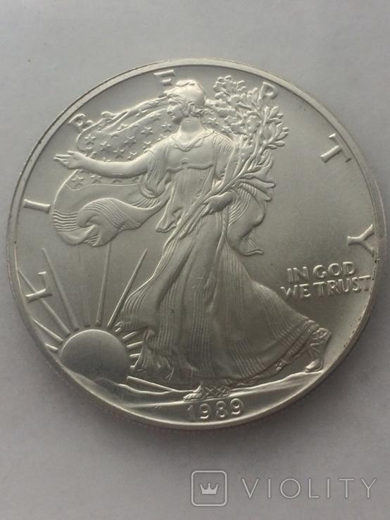 1-доллар США 1989 г, фото №2