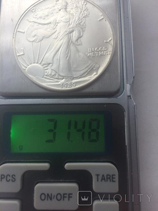 1-доллар США 1989 г, фото №4