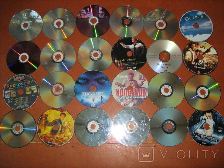 Диски с фильмами 100 штук DVD Avi