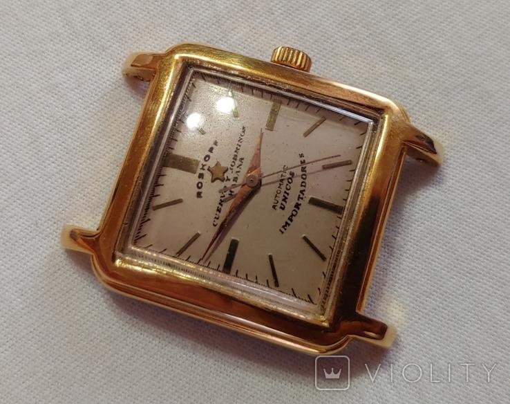 Часы Cuervo and Sobrinos в позолоченом корпусе 1960-х годов модель., фото №2