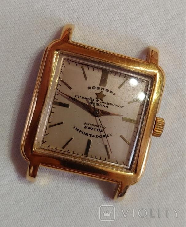 Часы Cuervo and Sobrinos в позолоченом корпусе 1960-х годов модель., фото №3