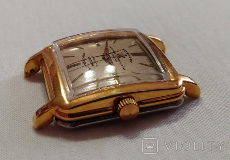 Часы Cuervo and Sobrinos в позолоченом корпусе 1960-х годов модель., фото №4