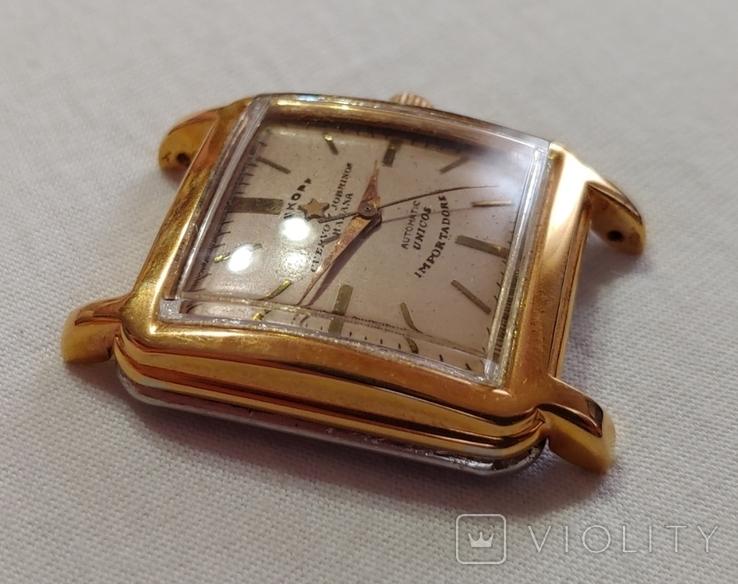 Часы Cuervo and Sobrinos в позолоченом корпусе 1960-х годов модель., фото №6