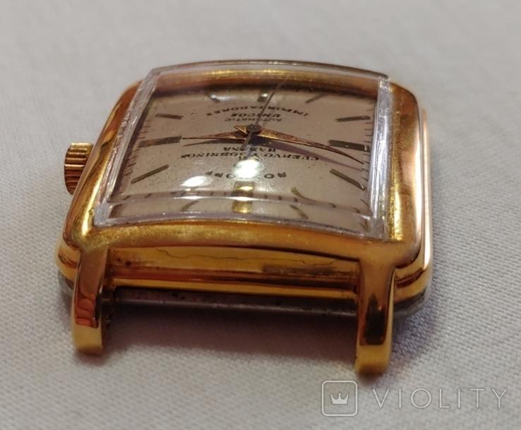 Часы Cuervo and Sobrinos в позолоченом корпусе 1960-х годов модель., фото №7
