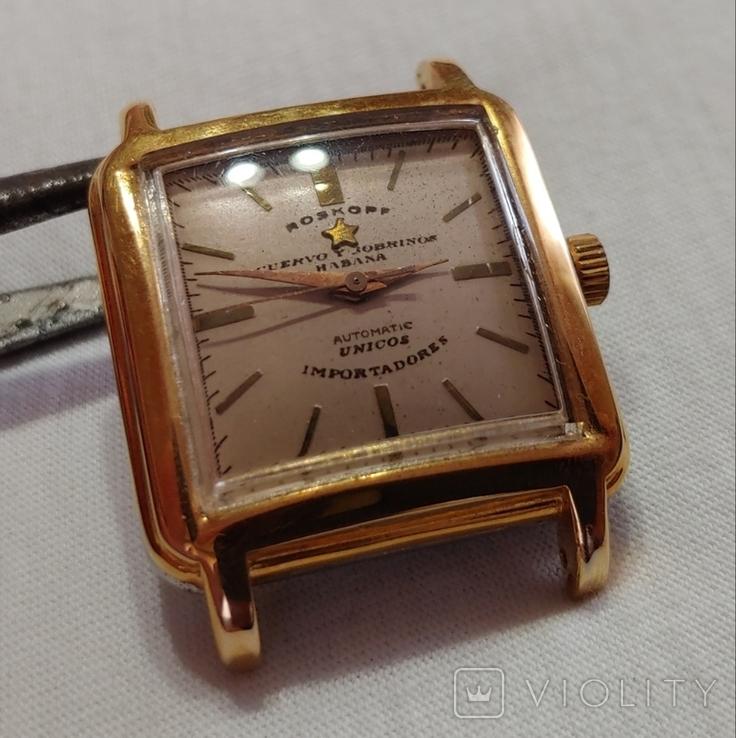 Часы Cuervo and Sobrinos в позолоченом корпусе 1960-х годов модель., фото №9