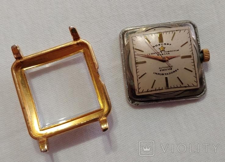 Часы Cuervo and Sobrinos в позолоченом корпусе 1960-х годов модель., фото №11
