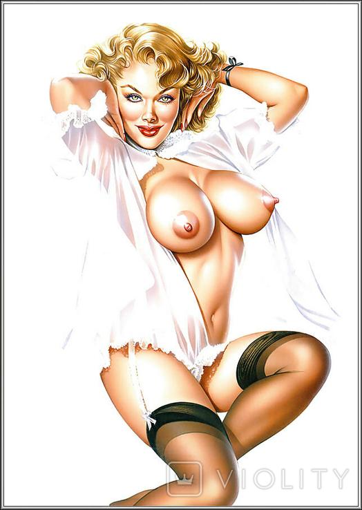 Пин ап. Блондинка.