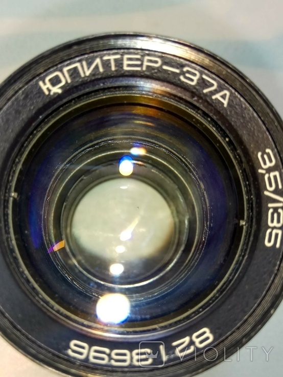 Объектив Юпитер 37-А с крышечкой, в тубусе., фото №8