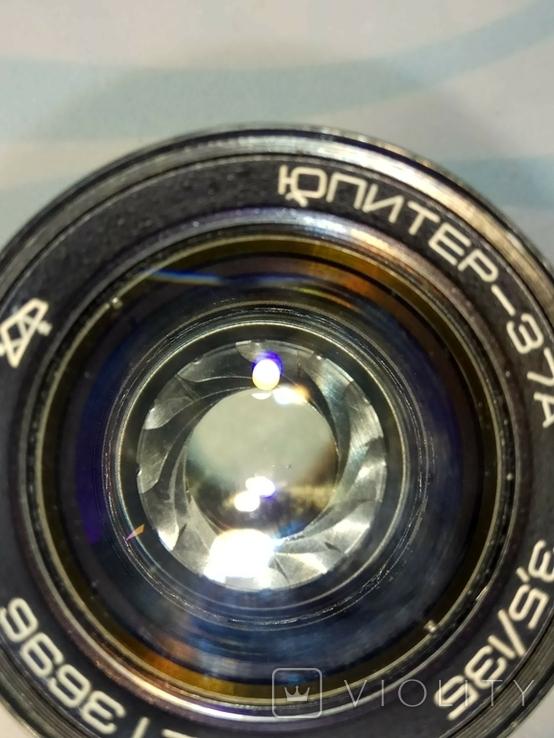 Объектив Юпитер 37-А с крышечкой, в тубусе., фото №9