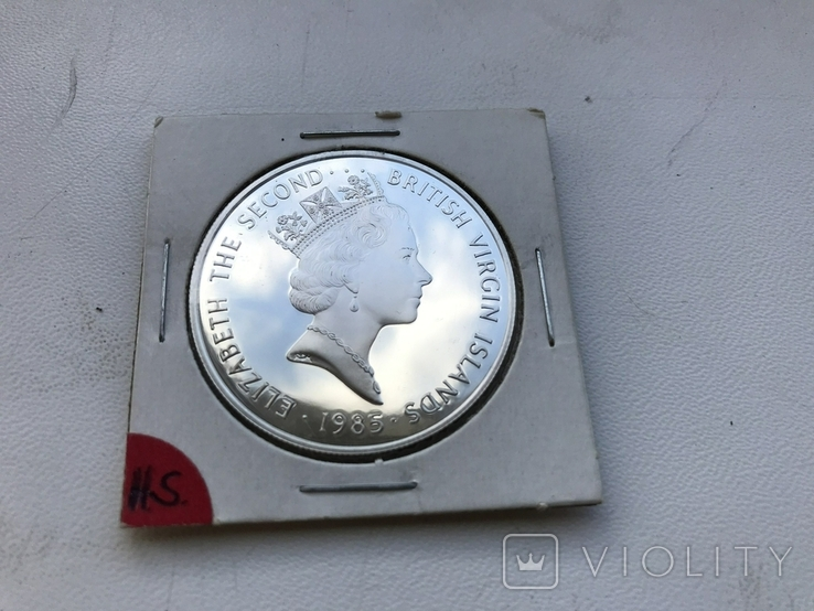 20 долларов 1985 Британские Виргинские острова серебро, фото №2