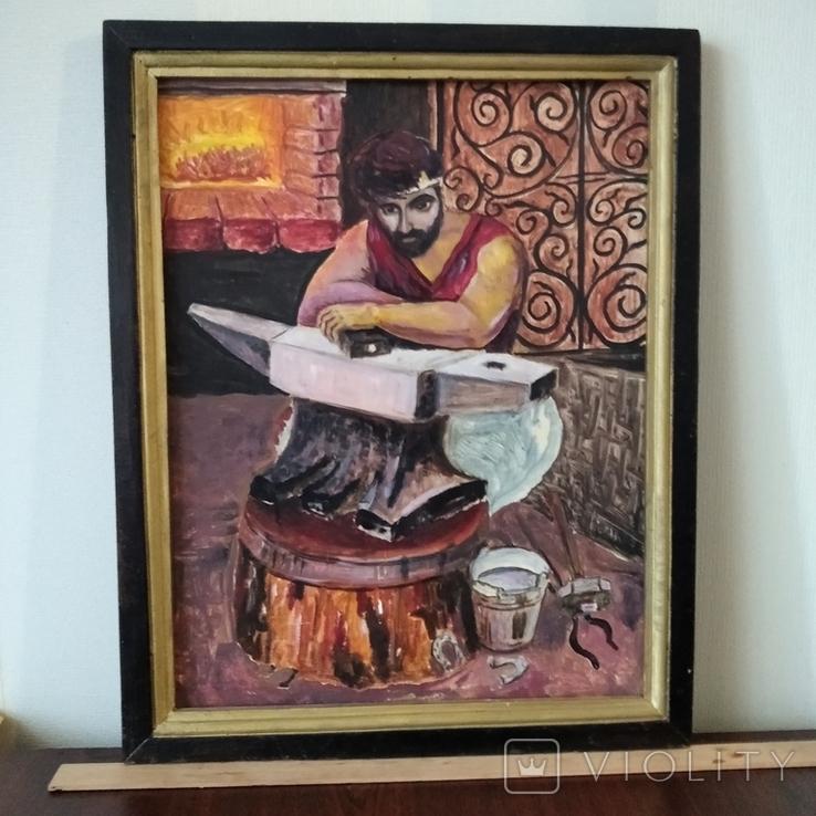 Картина Кузнец в раздумьях, фото №10