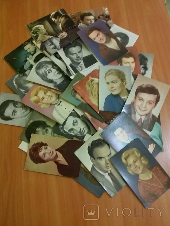 Открытки с фото популярных актеров советского кино и театра 60-70х, фото №2