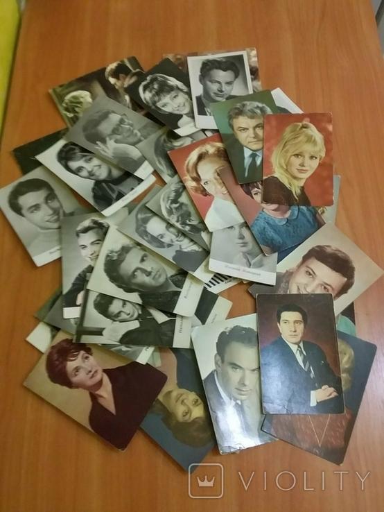 Открытки с фото популярных актеров советского кино и театра 60-70х, фото №4