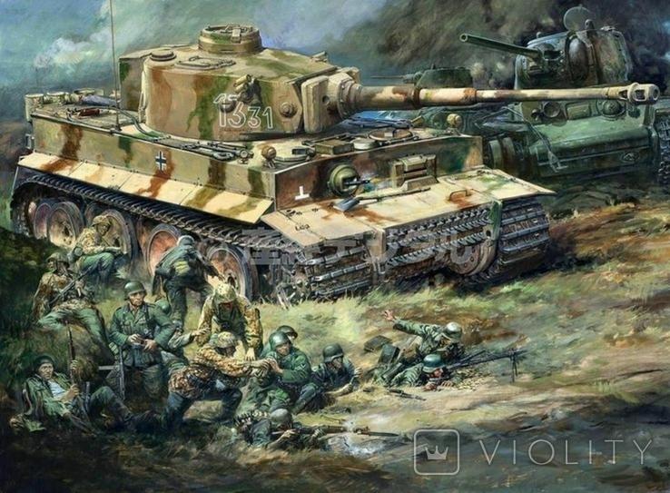 """""""Тигр"""" в бою."""