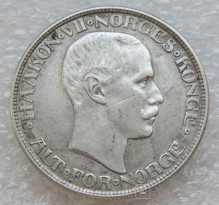 2 кроны 1913 г. Норвегия, серебро, фото №7