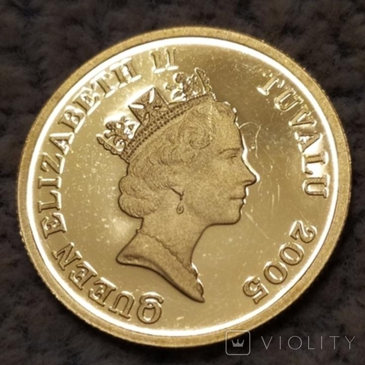 30 долларов 2005г.Тувалу., фото №3