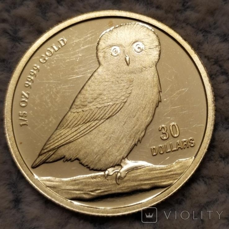 30 долларов 2005г.Тувалу., фото №4
