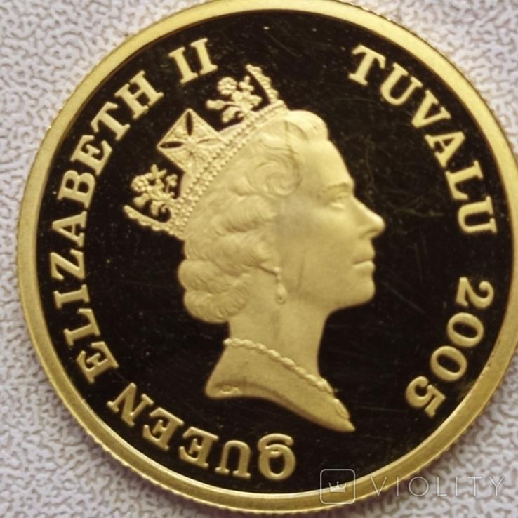 30 долларов 2005г.Тувалу., фото №7