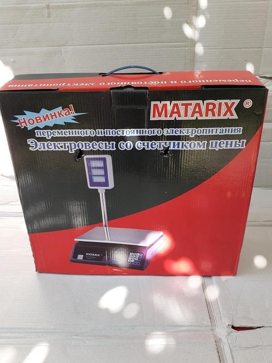 Рыночные электронные торговые весы до 50 кг Matarix, фото №3