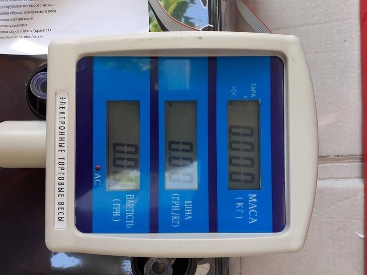 Рыночные электронные торговые весы до 50 кг Matarix, фото №4