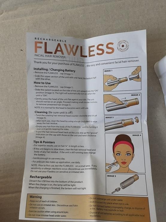 Женский мини эпилятор для лица Flawless, фото №7
