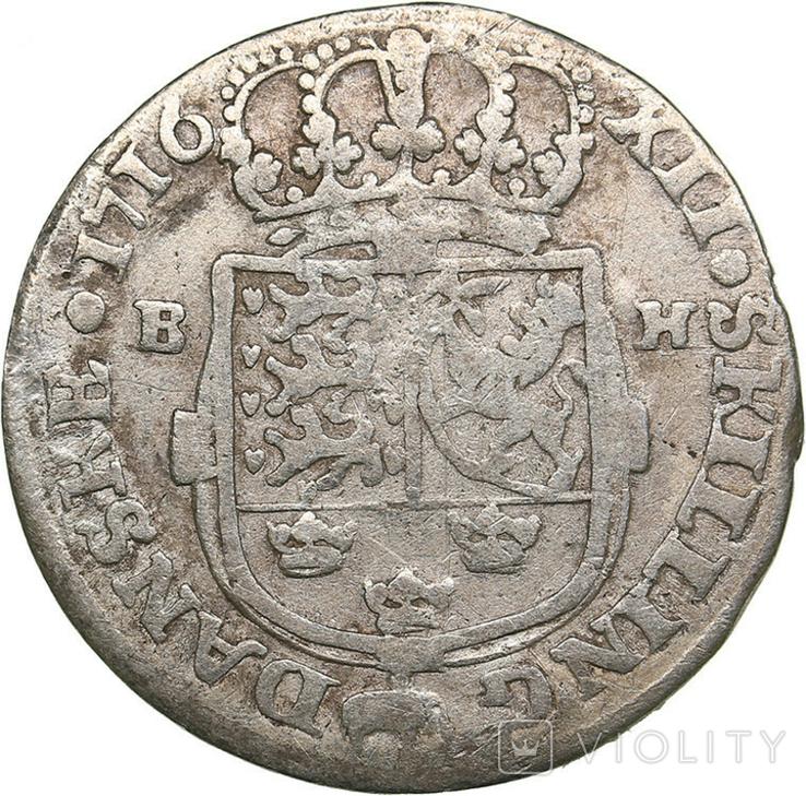 Дания. Фредерик IV (1671-1730). 12 скиллингов1716 г., фото №3