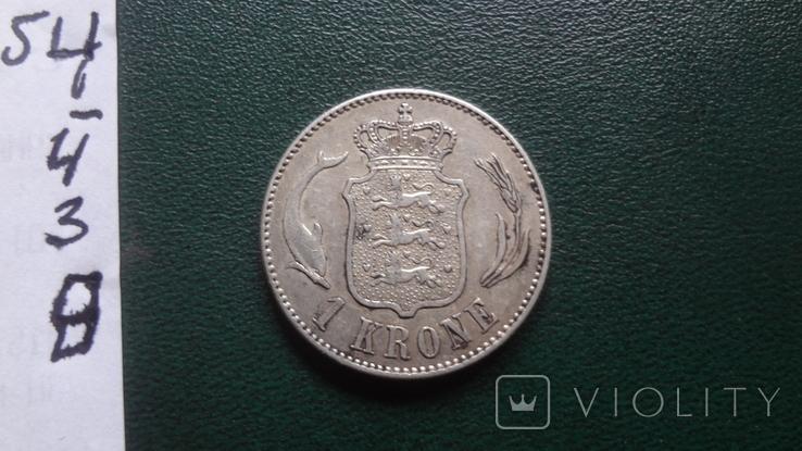 1 крона 1915 Дания серебро (й.3.7), фото №4
