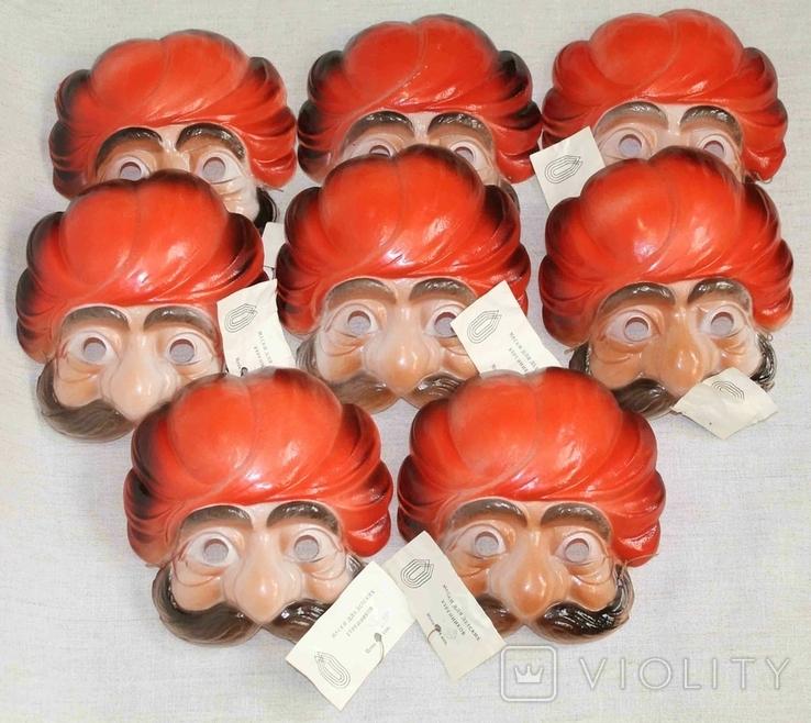 Маски для детских утренников СССР с бирками 8 шт, фото №2